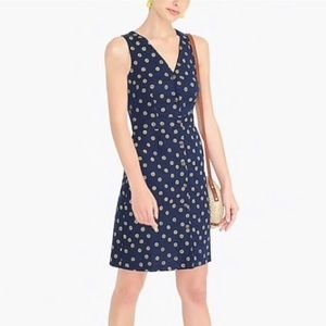 J Crew | Navy Blue Floral Button down Dress